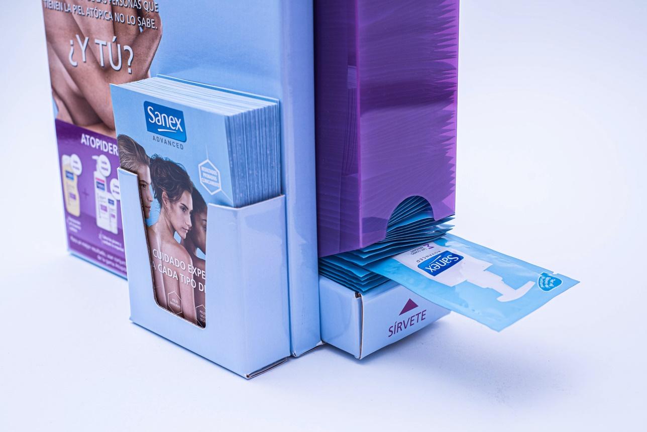 diseño de packaging a medida para promoción sanex