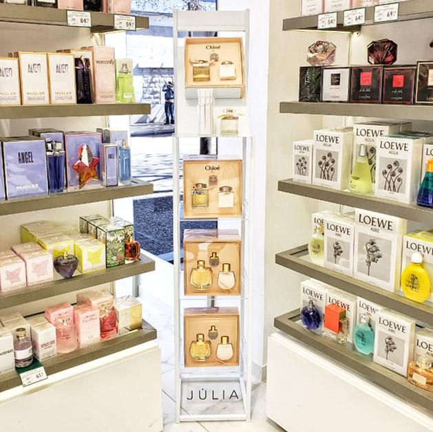 PLV Perfumería: Expositores para perfumerías Júlia