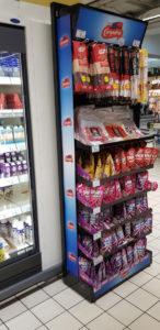 fabricante de expositor de suelo campofrio supermercado
