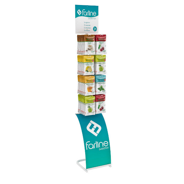 PLV Farmacia: Expositor permanente caramelos Farline