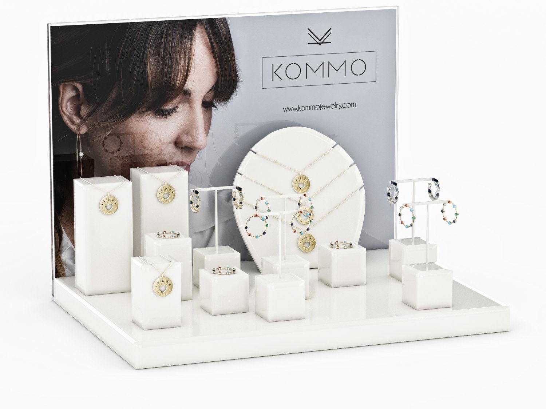 PLV Joyería: Expositores para Kommo Jewelry